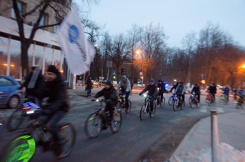 Велосветлячки 2013 в Великом Новгороде