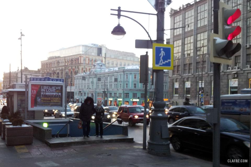Подземный переход на Тверской