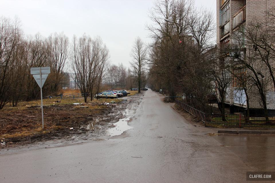Проезжая часть улицы Космонавтов