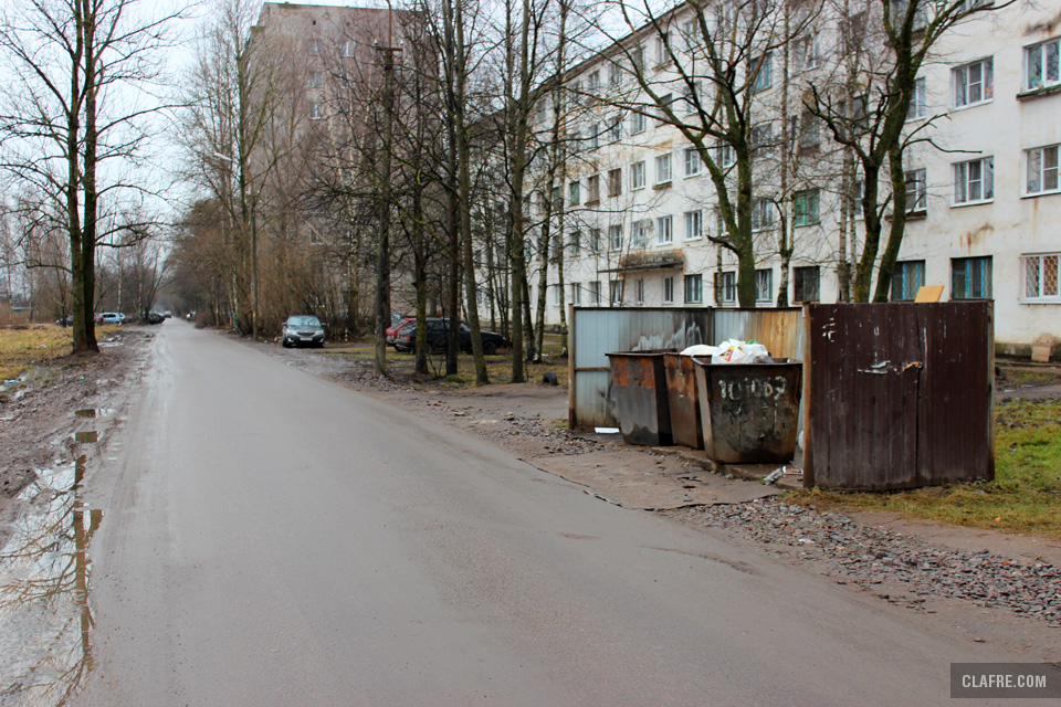 Мусорные баки на улице Космонавтов