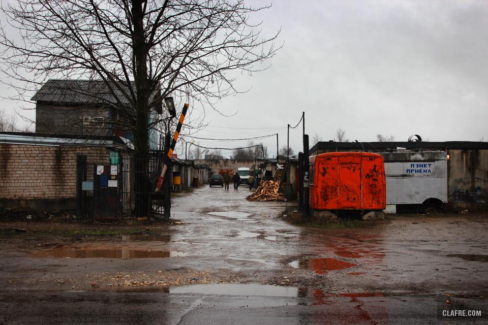 Гаражи на улице Радищева
