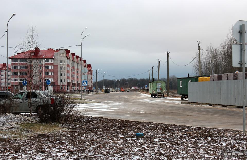 Строящийся участок улицы Каберова-Власьевская