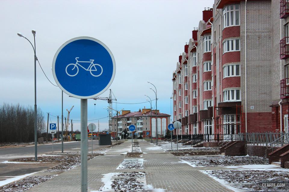 Велодорожка на Каберова-Власьевской улице