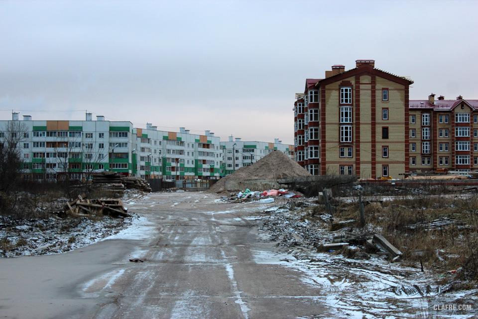 Строительная дорога к Псковской Слободе