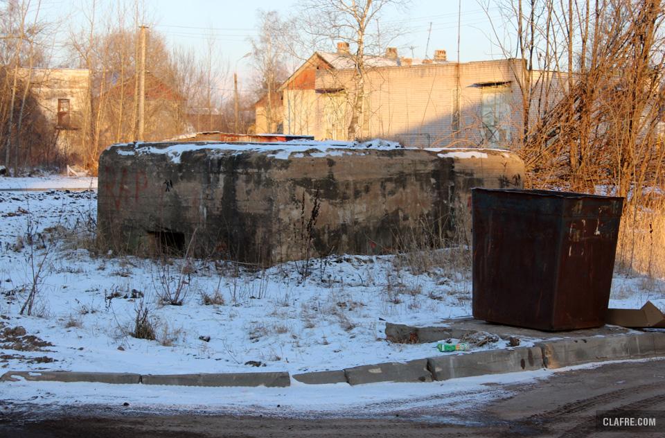 ДОТ на Сенной улице в Великом Новгороде