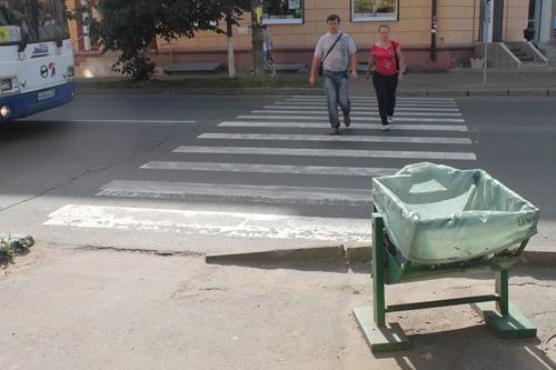 Пешеходный переход со спусками