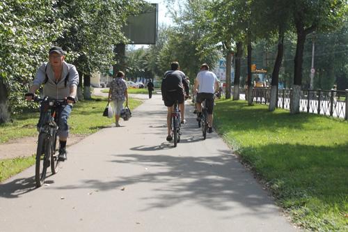 Местные велосипедисты