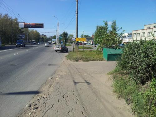 Съезд с путепровода на проспект Александра Корсунова
