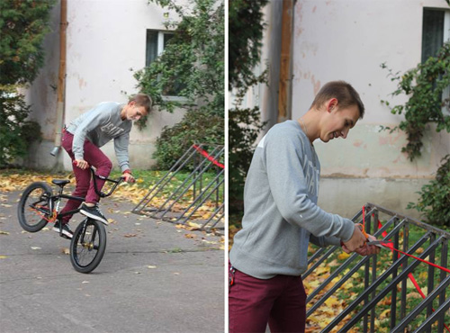 Ученик лицея Дмитрий Богатыренко перерезал красную ленточку