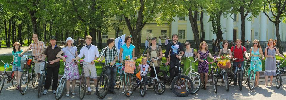 Участники велосипедной прогулки