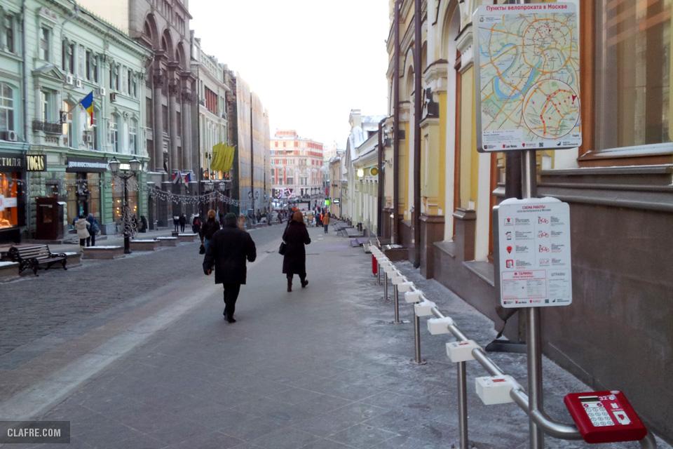 Московский общественный велопрокат зимой