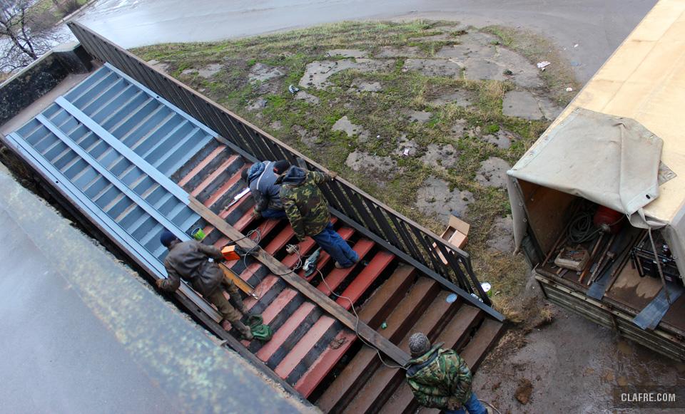 Ремонт лестничных сходов