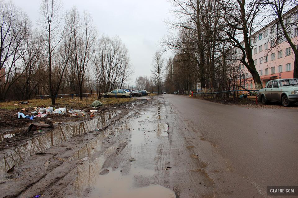 Обочина на улице Космонавтов