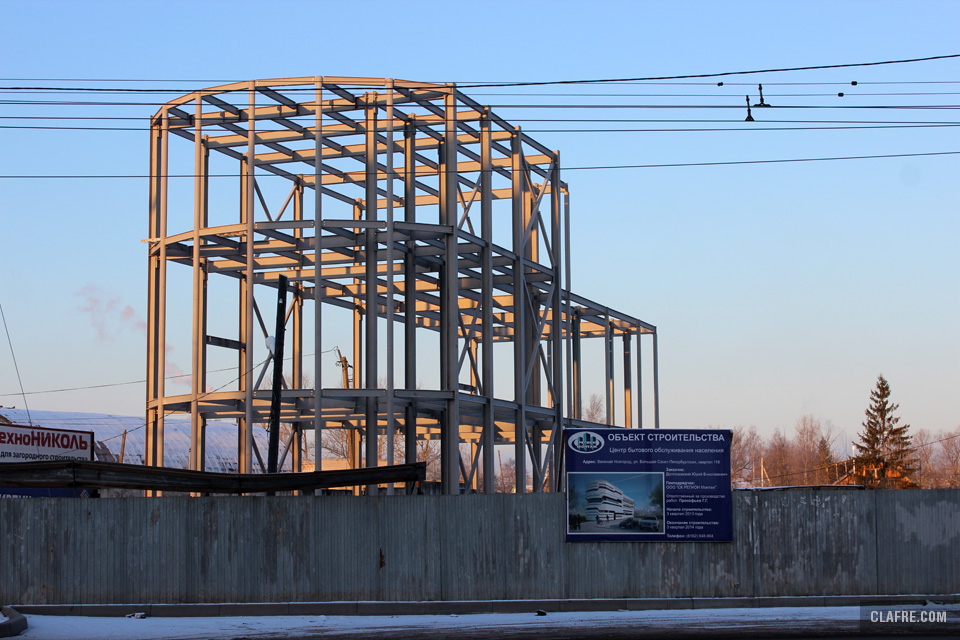 Готов каркас здания