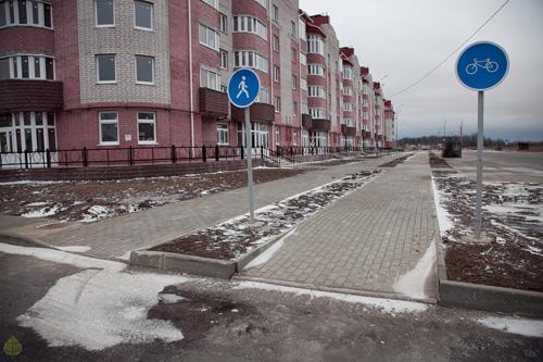 Велодорожка на улице Каберова-Власьевской. Фото Анна Соколова