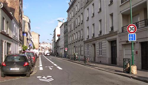 обратная велополоса во Франции