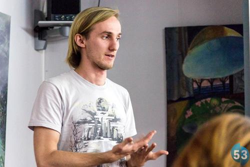 Владимир Кумов на лекции в Великом Новгороде