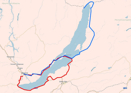 Маршрут путешествия вокруг озера Байкал
