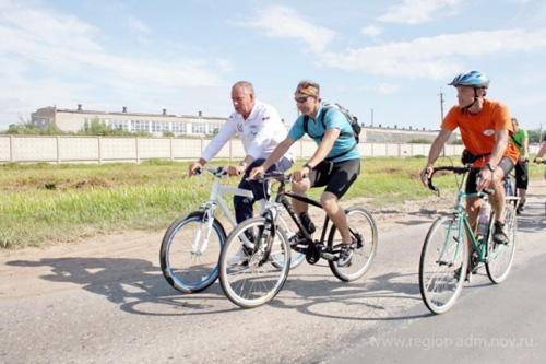 Велопробег с губернатором в 2011 году