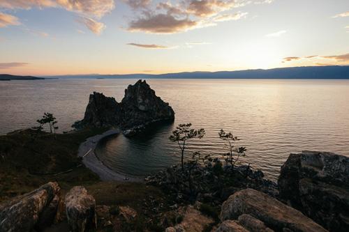 Мыс Бурхан на закате. Остров Ольхон