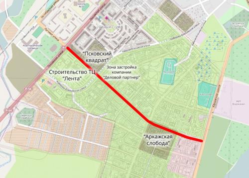 Улица Луговая в Великом Новгороде