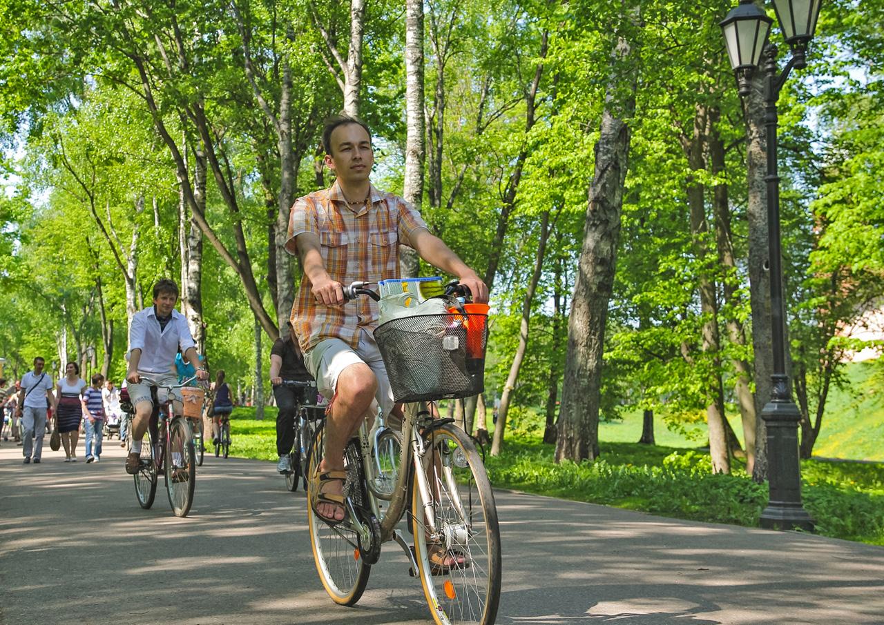 «Велосипедный променад» на городском велосипеде