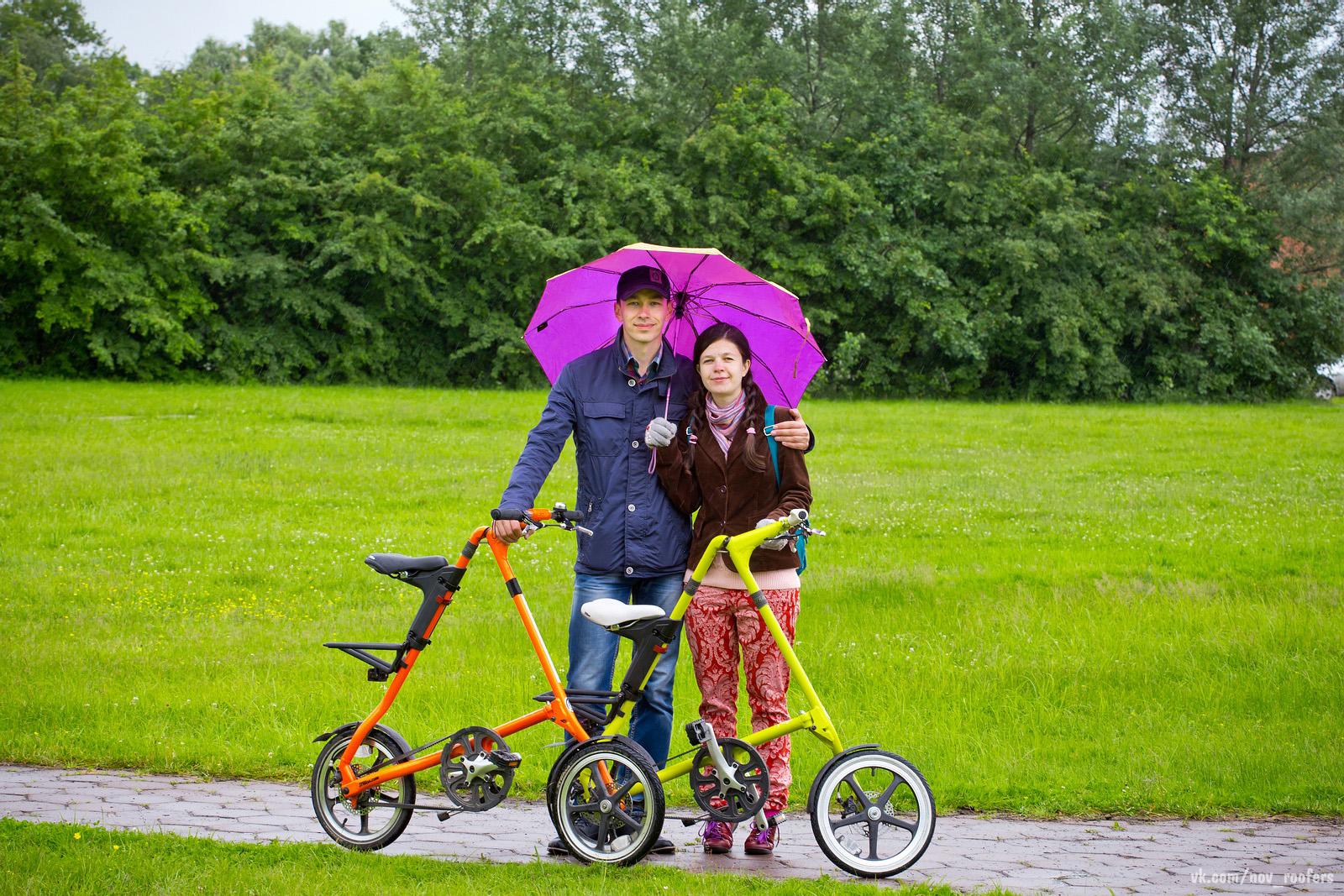 «Велосипедный променад» на компактных велосипедах