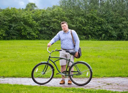Алексей Сабельский на Велосипедном променаде