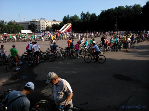 Перед велопробегом 9 августа