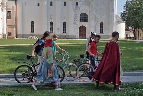 В Новгородском Кремле после велопробега