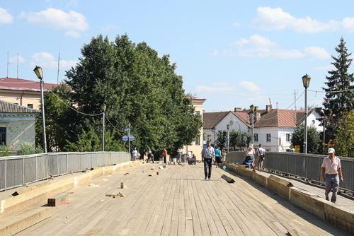 Деревянный мост в Старой Руссе