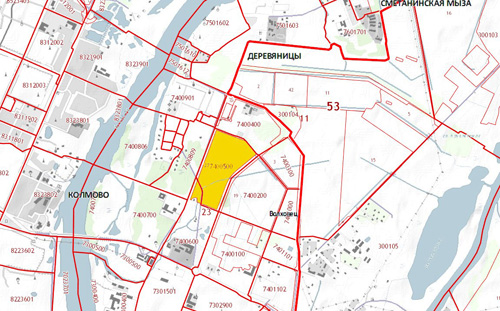 Схема границ земельных участков в Деревяницком районе