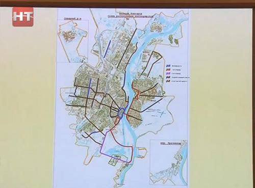 Схема велосипедных маршрутов
