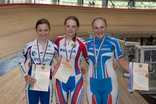 Мария Новолодская стала победительницей первенства России по велоспорту на треке