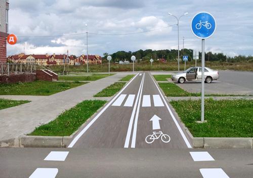 Велодорожка в Великом Новгороде. Фотошоп, 50 уровень