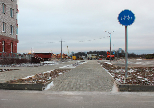 Велодорожка в Великом Новгороде. Фотошоп, 20 уровень