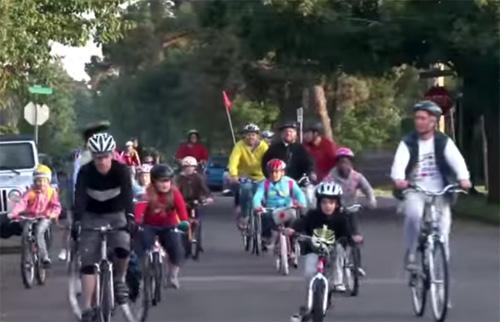В школу на велосипеде