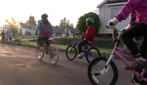 В школу на велосипедах