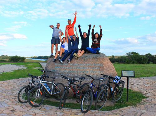 Велосипедисты на Княжем камне