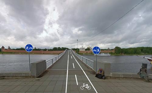 Велопешеходная дорожка через мост