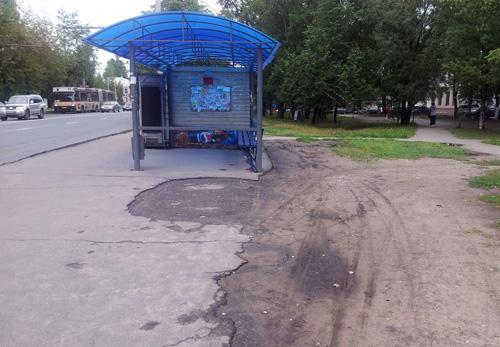 Проезды за автобусными остановками