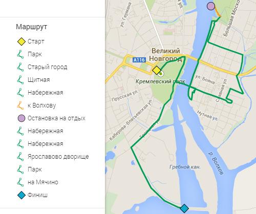 Маршрут велопрогулки 19 сентября