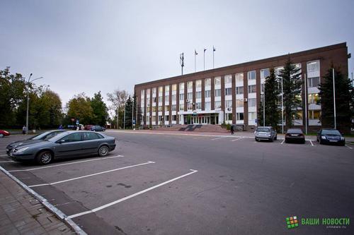 Здание Администрации Великого Новгорода в День без автомобиля