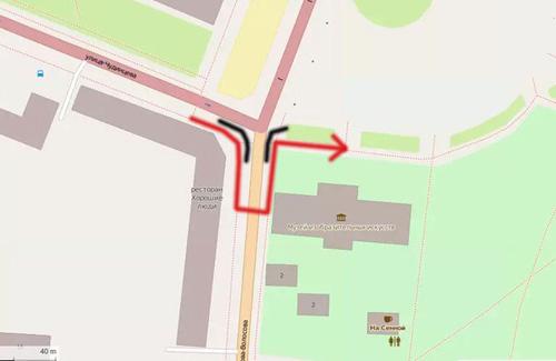 Предлагаемая мэрией схема движения пешеходов