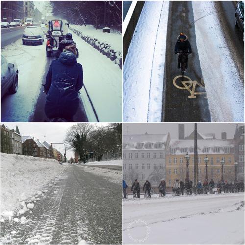Зимним днём в Копенгагине, Дания