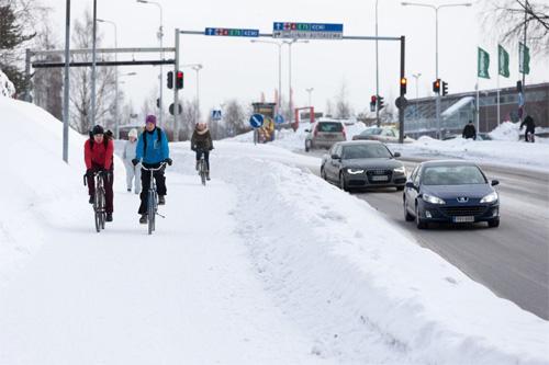Зимним днём в Оулу, Финляндия