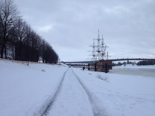 «Лыжня» на велодорожке набережной Невского