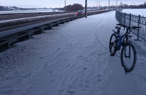 Велодорожка не была включена в зимние уборочные объёмы