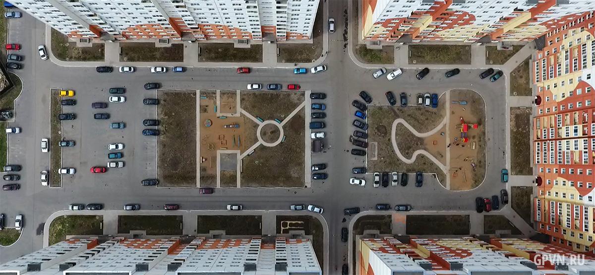 Дворовое пространство ЖК «Луговой»