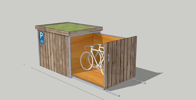 Новые дворовые велоангары